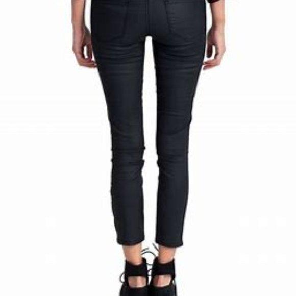 NWOT-Express black shinny ankle legging jean